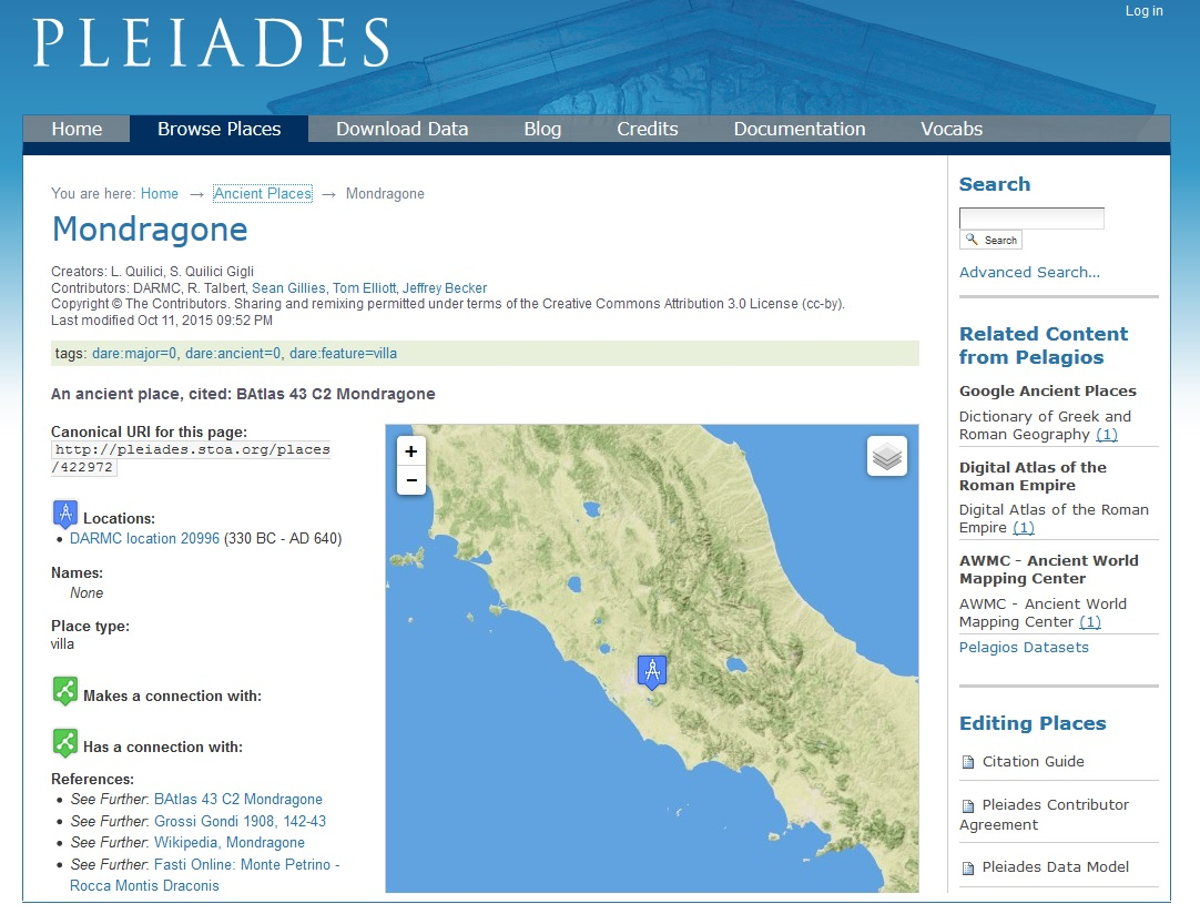 Workshop on Pleiades: Mapping the Ancient World | Center for ...
